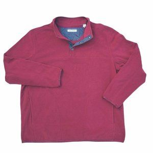 TOMMY BAHAMA Mens Red 3 Snap Fleece Pullover